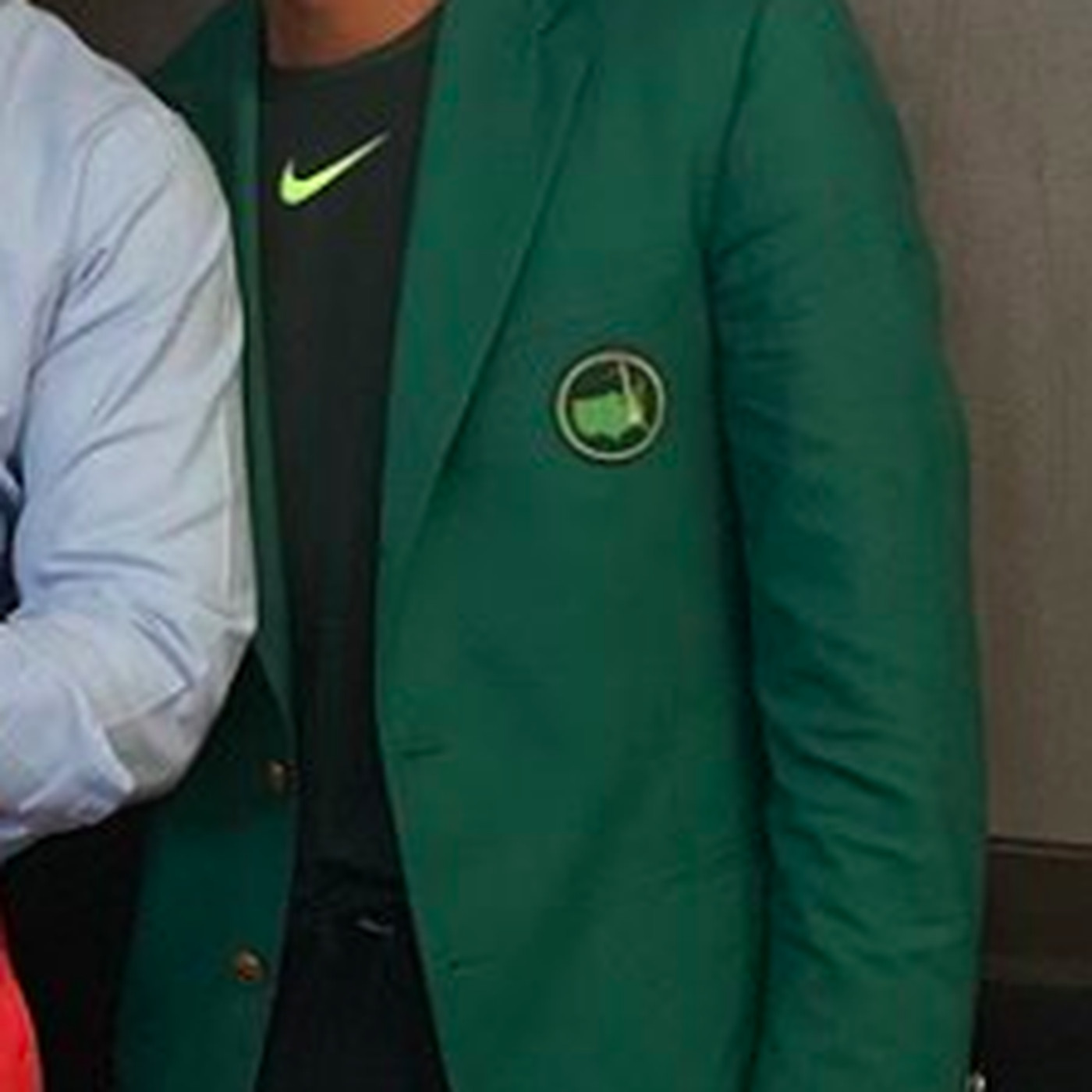 cac8fd55 Tiger Woods wears his new Masters green jacket with Raiders mesh shorts -  SBNation.com