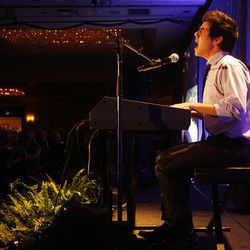 David Archuleta performs during the 2010 Mentors International Gala. The free performance was a fundraiser to help raise money for micro-credit loans.
