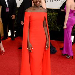 Breakout star (and Yale grad!) Lupita Nyong'o stealing the show in Ralph Lauren.