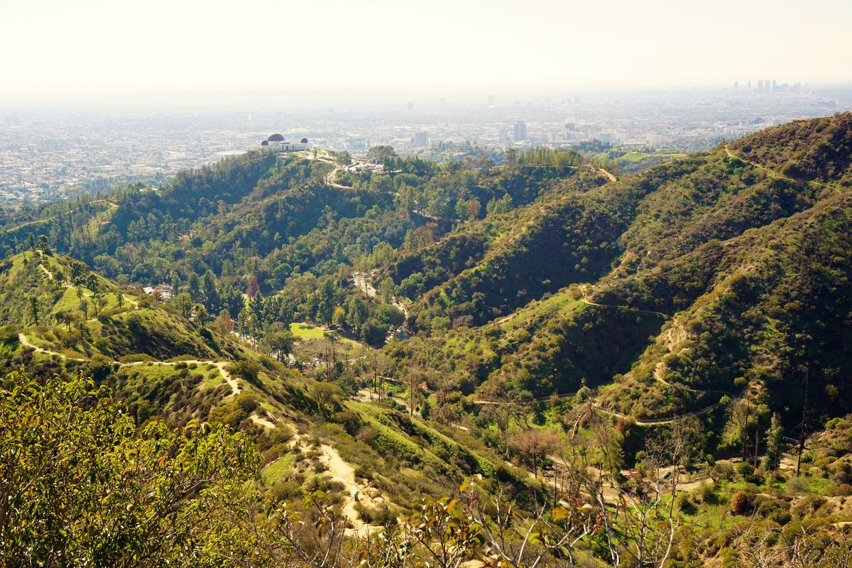 Aerial view of Griffith Park