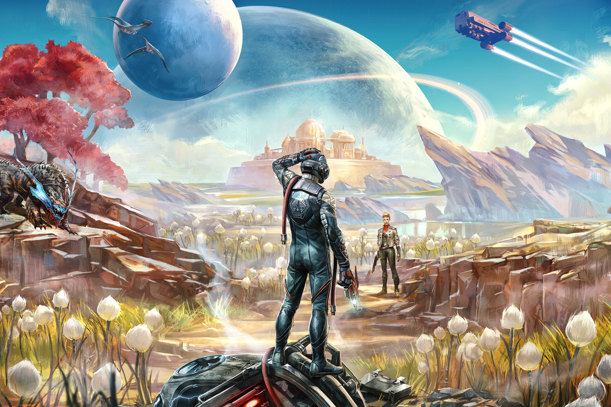 Artwork from The Outer Worlds