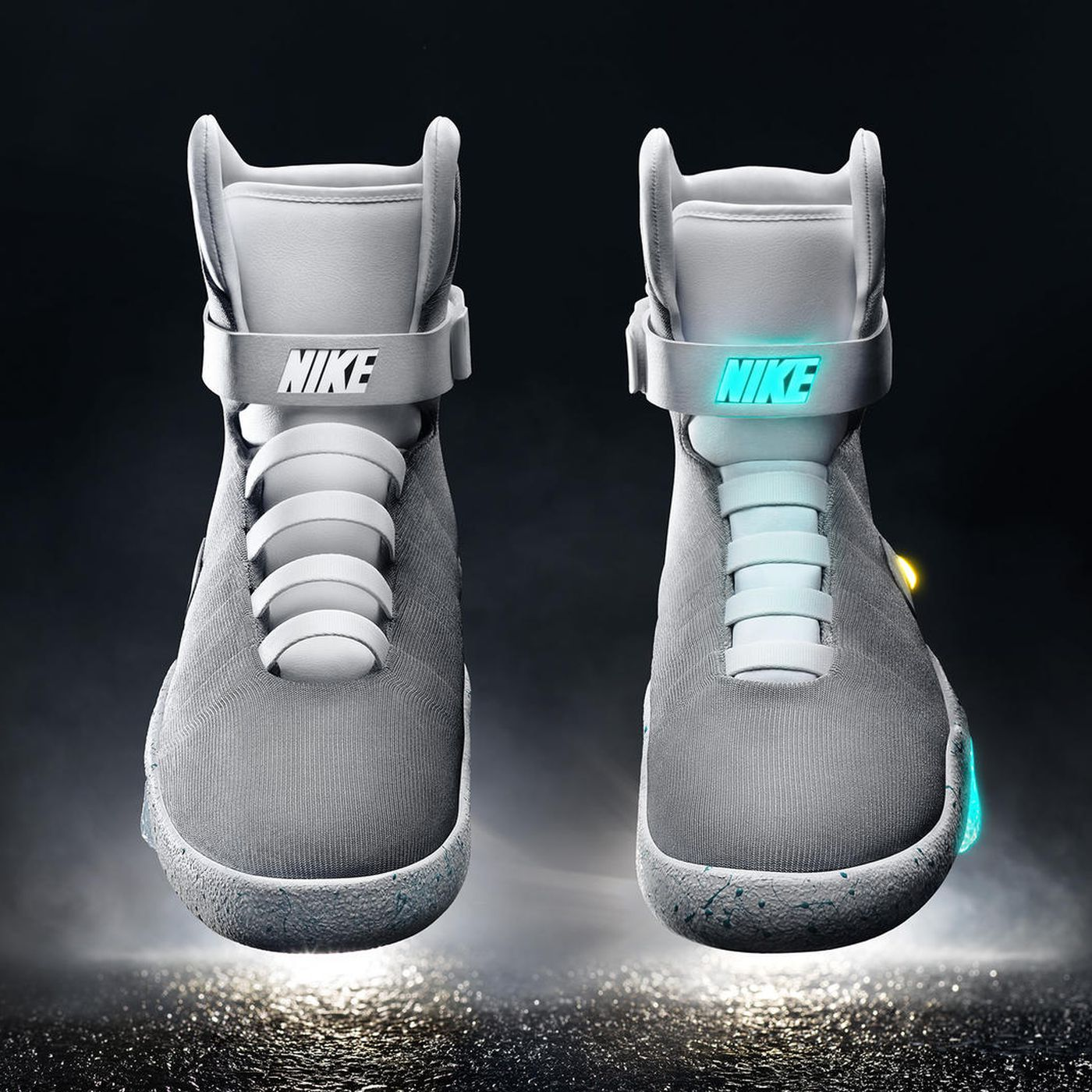 Objetor mapa Orgulloso  Nike will sell the self-lacing sneakers from Back to the Future in 2016 -  The Verge