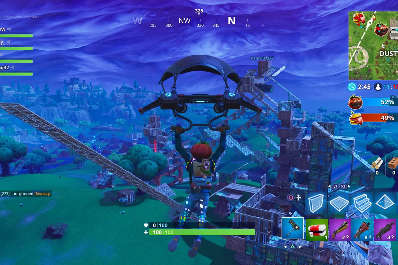 fortnite s frantic food fight is its best mode yet