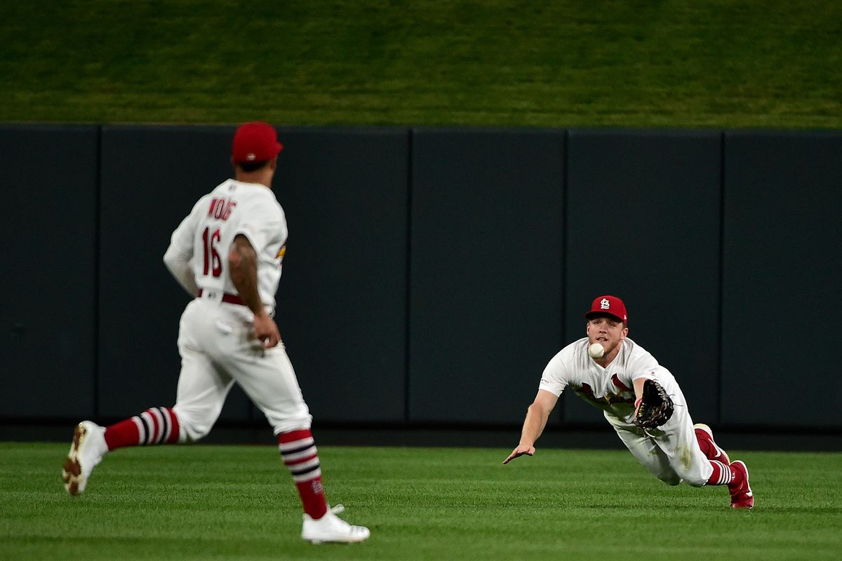 Harrison Bader is back making web gems in centerfield - A Hunt and Peck