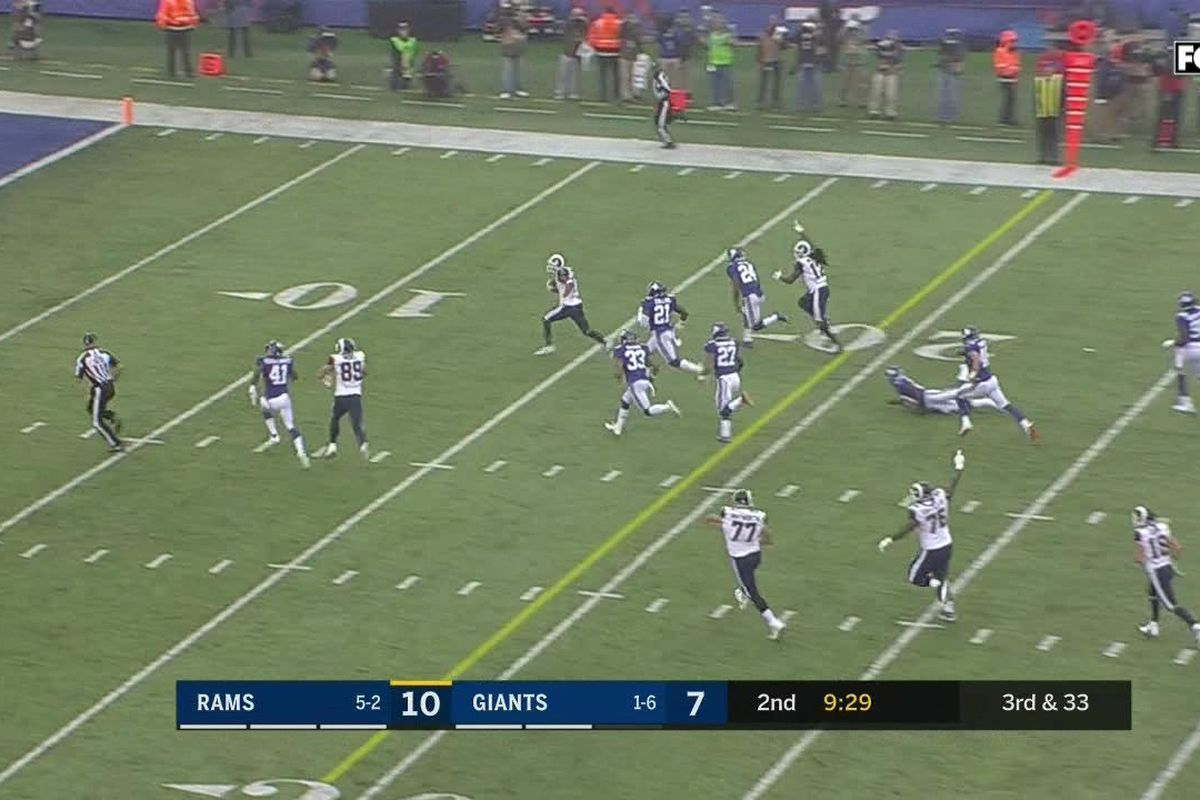 The Giants Gave Up A Touchdown On Third And 33