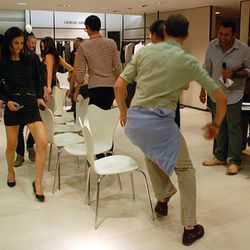 Musical chairs with Juan Carlos Obando and more!!! They did this over and over and it looked really fun!