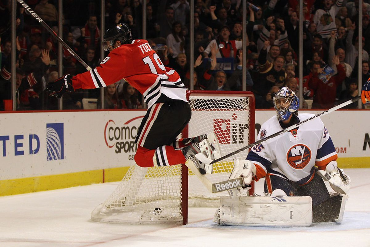 When Toews The Eskimo gets here, everyone's gonna jump for joy.