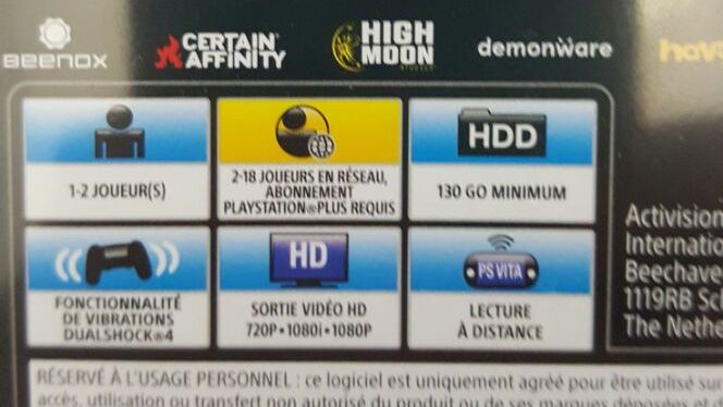 Call of Duty: Infinite Warfare Legacy Edition box detail