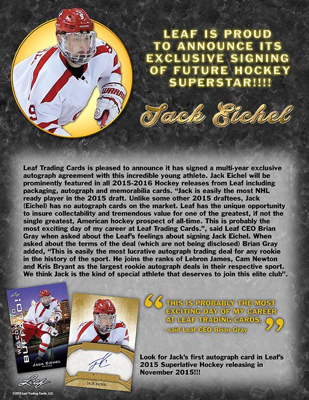 Jack Eichel Card Announcement