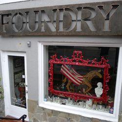 "Vintage patriotism at home decor shop <a href=""http://foundrybyfreeman.com/"">Foundry</a> on U Street."