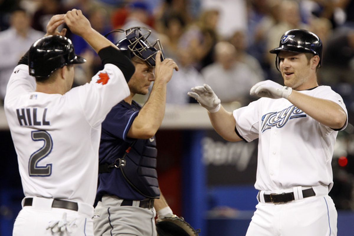 2009 Silver Slugger winners Aaron Hill and Adam Lind