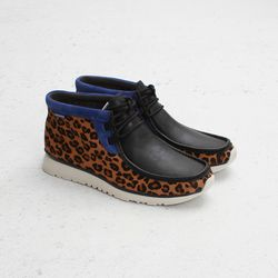 """Clarks Sportswear X Atmos Tawyer Mid (Leopard), <a href=""""http://shop.cncpts.com/products/clarks-sportswear-tawyer-mid-atmos-leopard"""">$140</a>"""
