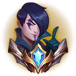 An emote of Aphelios with his finger pointing up