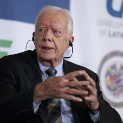 CORRECTS DATE - Former President Jimmy Carter speaks at the 16th annual CAF conference, in Washington Thursday, Sep. 6, 2012.