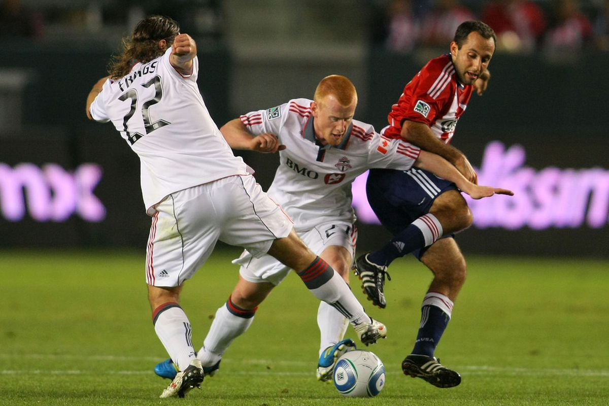 CARSON, CA - SEPTEMBER 24:  Chivas and TFC: likely to be a scrappy affair (Photo by Victor Decolongon/Getty Images)