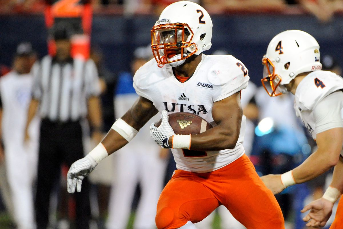 Jarveon Williams became UTSA's first ever thousand yard rusher after bashing Rice on the ground