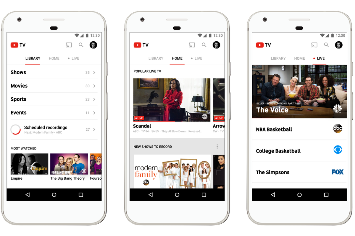 Youtube Tv Regular Over The Internet For 35 Has Arrived Is Going To Start Selling Today At Least People Who Live In New York Los Angeles San Francisco And Two Other Cities