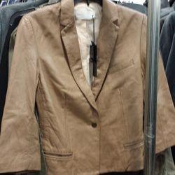 Women's leather blazer, $300