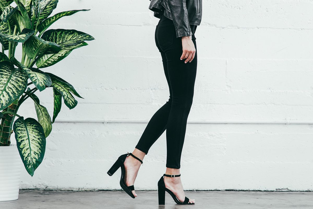 a479e3b5bcfd a woman in black skinny jeans and heels Photos  Just Black