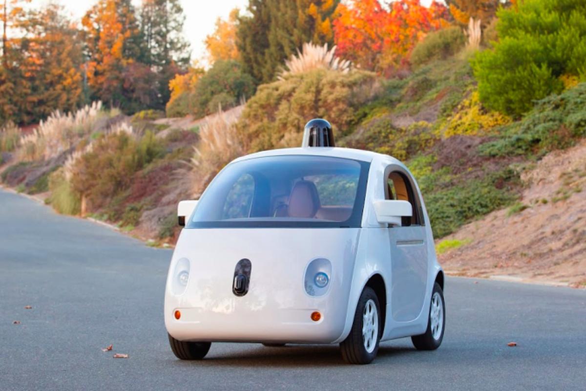 A prototype of Google's custom-built self-driving car.