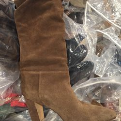 Suede knee boot, size 37, $350