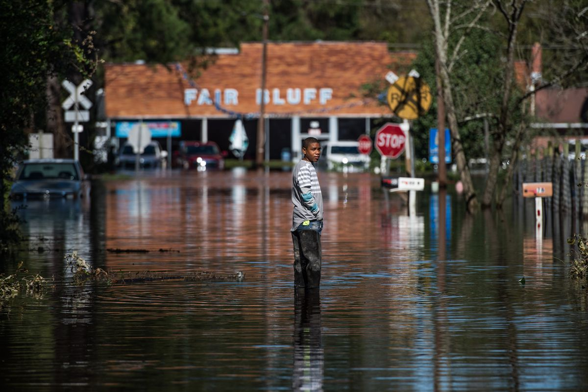 Remnants Of Hurricane Matthew Cause Inland Flooding In Parts In North Carolina