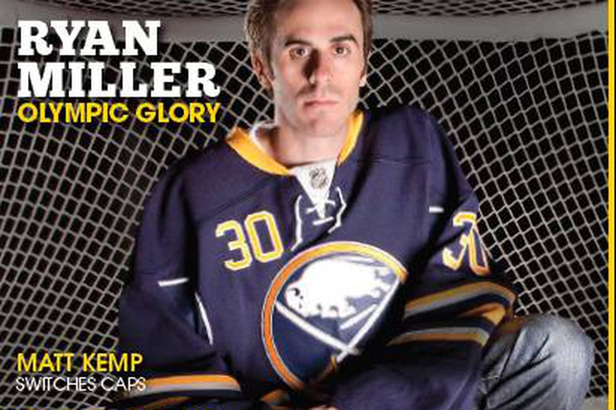 Ryan Miller on the cover of Your Lifestyle Fitted, courtesy of New Era Caps.