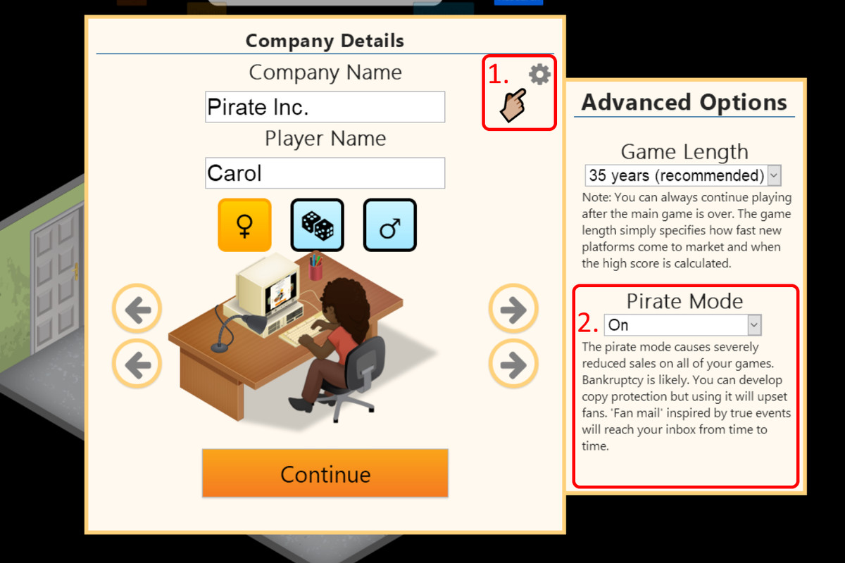 pirate mode in Game Dev Tycoon
