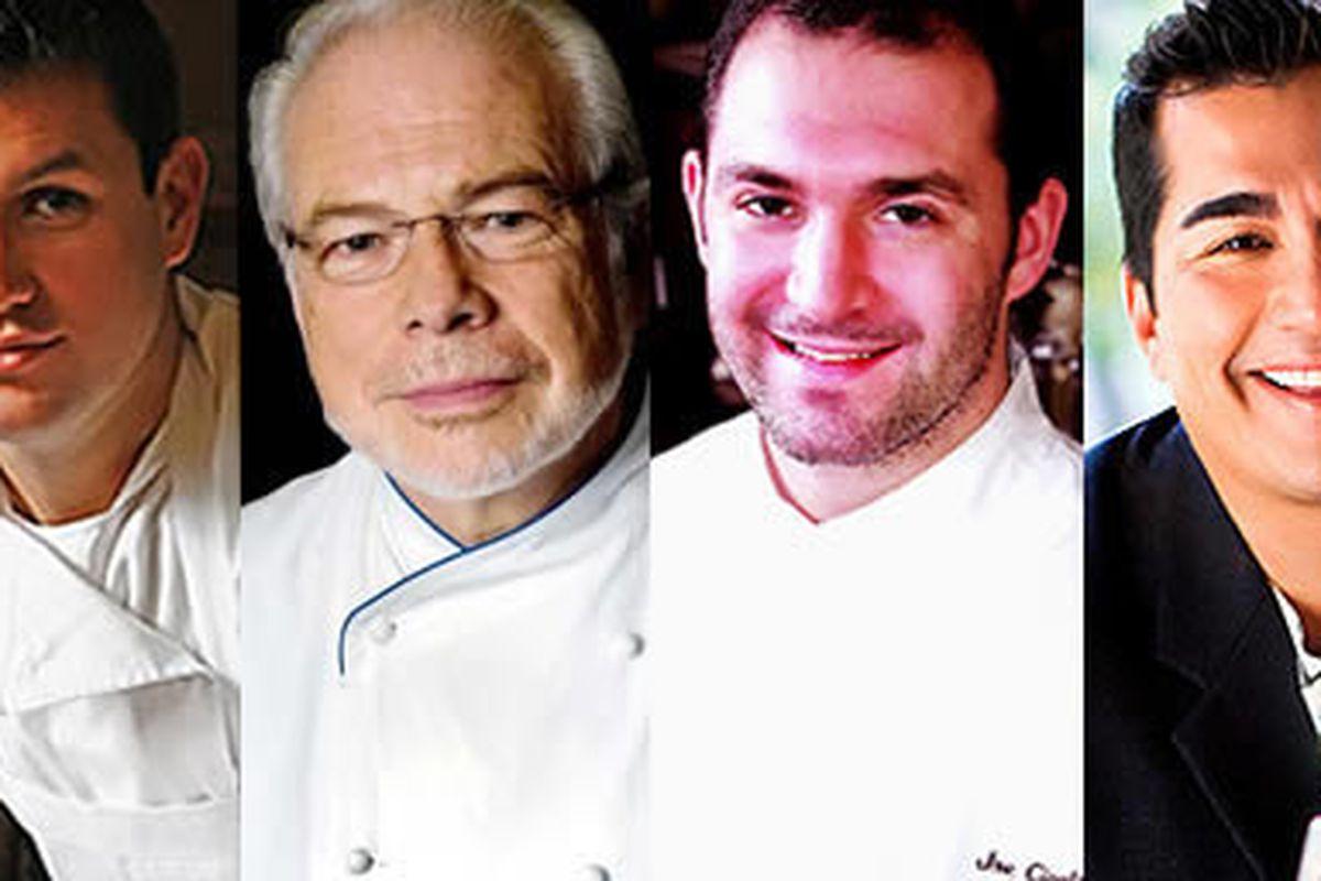 Chip Roman (Blackfish), Jean-Marie Lacroix (Brûlée Catering), Joe Cicala (Le Virtu), Jose Garces (Amada)