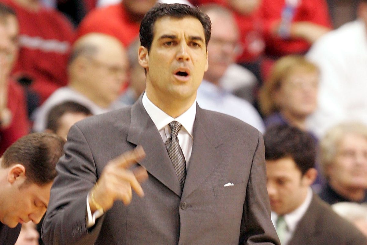 A younger Jay Wright sports a 4-button suit in 2005