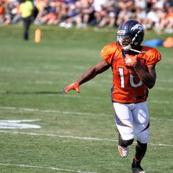 WR Emmanuel Sanders looks for his next move.