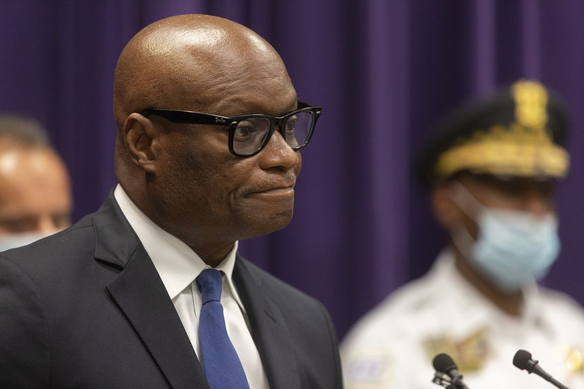 """Chicago Police Supt. David Brown (above) on Monday announced the death of Officer James Daly, saying in a statement to the media: """"Today, I mourn alongside everyone in the department."""" In a separate statement to rank-and-file officers, Brown disclosed that Daly died of an apparent suicide."""