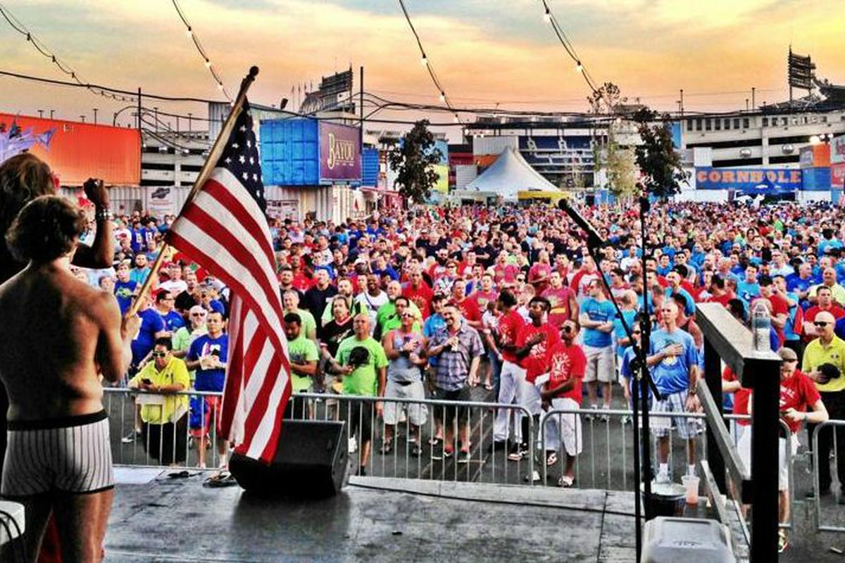 Opening ceremonies at the Gay Softball World Series in Washington D.C.
