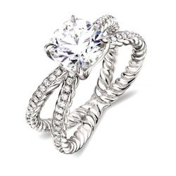 The Crossover, also called the Bridal X, set in platinum is 1.13 carats for $15,000.