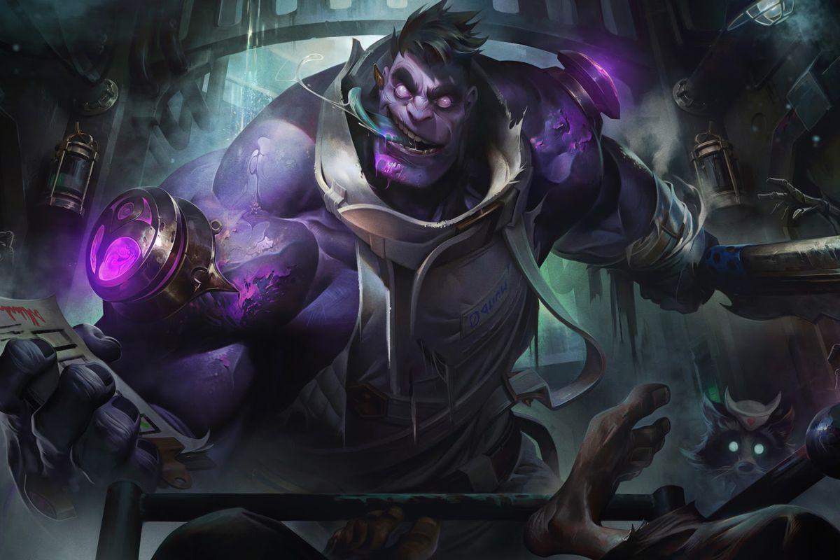Dr. Mundo's reworked splash art from League of Legends