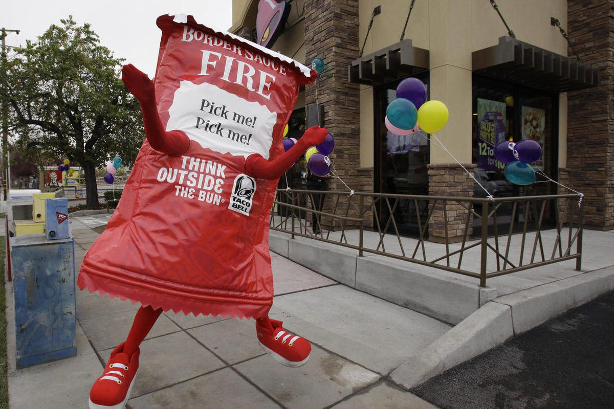 A Taco Bell restaurant opening in Mountain View, California.