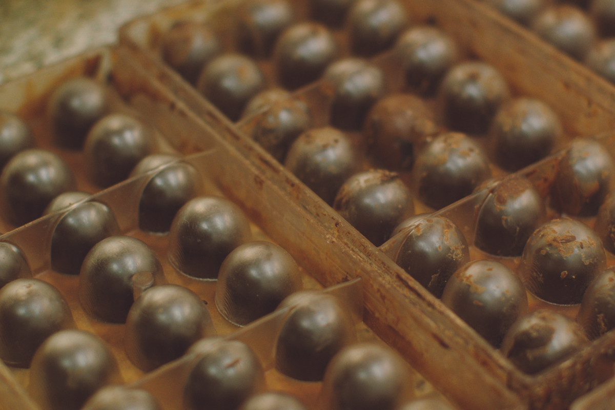 Paul A Young chocolatier made a durian fruit chocolate to highlight domestic abuse