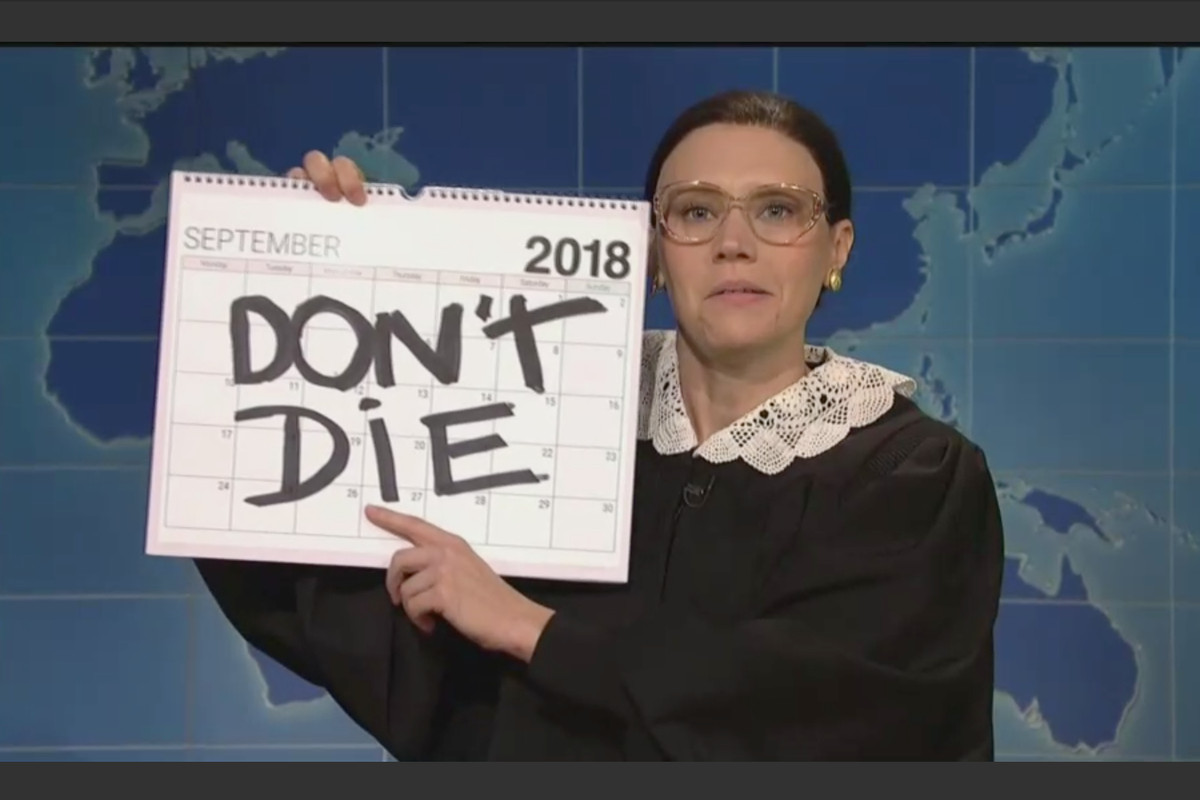 Kate McKinnon's Ruth Bader Ginsburg has big plans on her calendar for 2018.