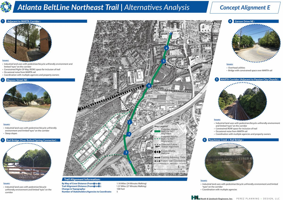 An overview of options for building out the Beltline in Buckhead.