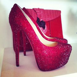 Killer crystallized red Loubs. Eat your heart out, Dorothy.