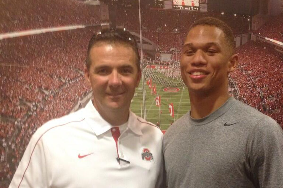 Stephen Collier got a chance to meet with the Buckeye boss Urban Meyer during his visit last weekend.