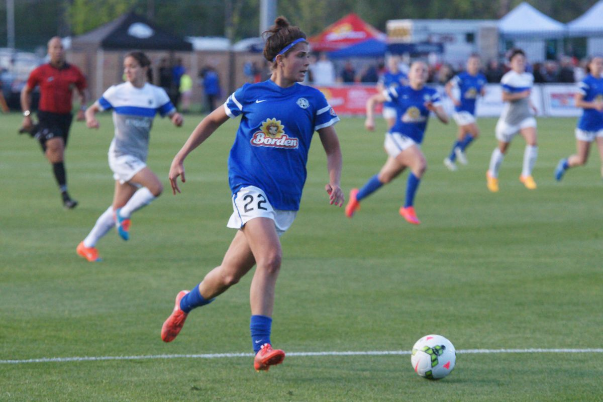 FC Kansas City forward Sarah Hagen has started to gain confidence but will need to do well for the Blues