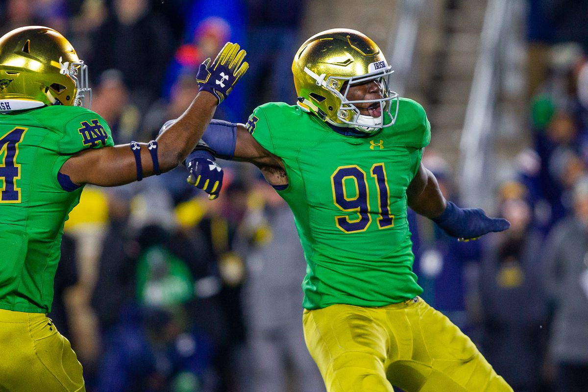 This Guy Plays Notre Dame Football: #91 Ade Ogundeji, Defensive End