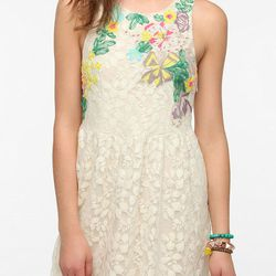 """<b>Kimchi Blue</b> embroidered lace dress, $89 at <a href=""""http://www.urbanoutfitters.com/urban/catalog/productdetail.jsp?id=26822528&parentid=W_APP_DRESSES"""">Urban Outfitters</a>"""