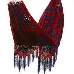 """<a href=""""http://www.sunandsiesta.com/""""><b>Sun & Siesta</b></a> Red Wayuu Hammock"""