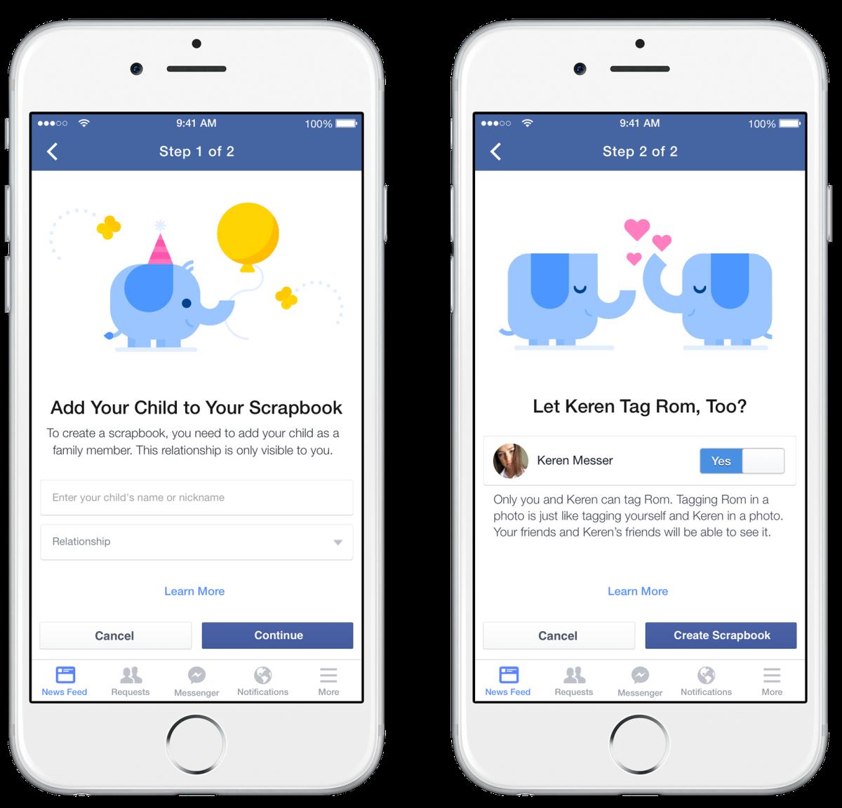 Facebook's new 'Scrapbook' helps parents keep baby photos in