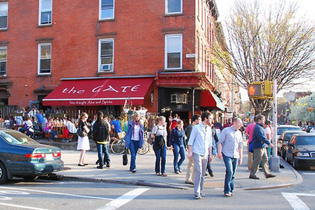 Park Slope's The Gate, Packed Due to Spring Weather