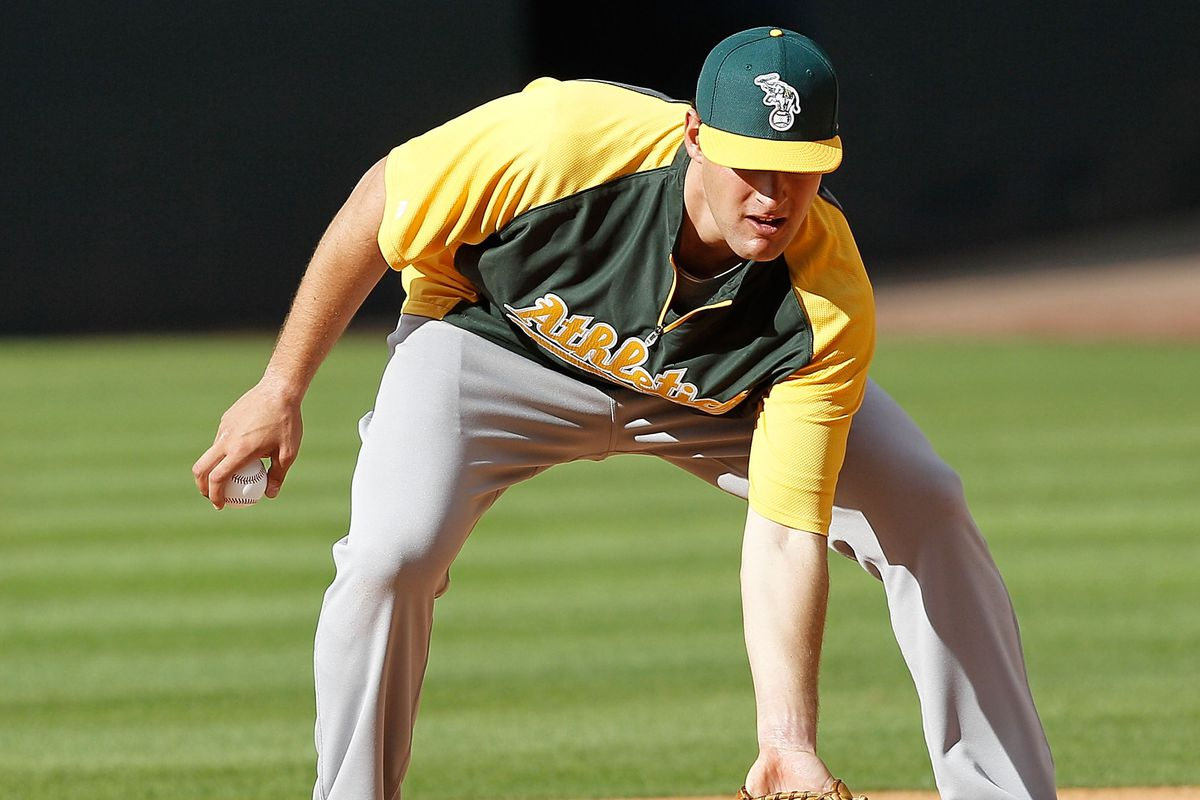In honor of his defense, the A's have erected a Nate Freiman.