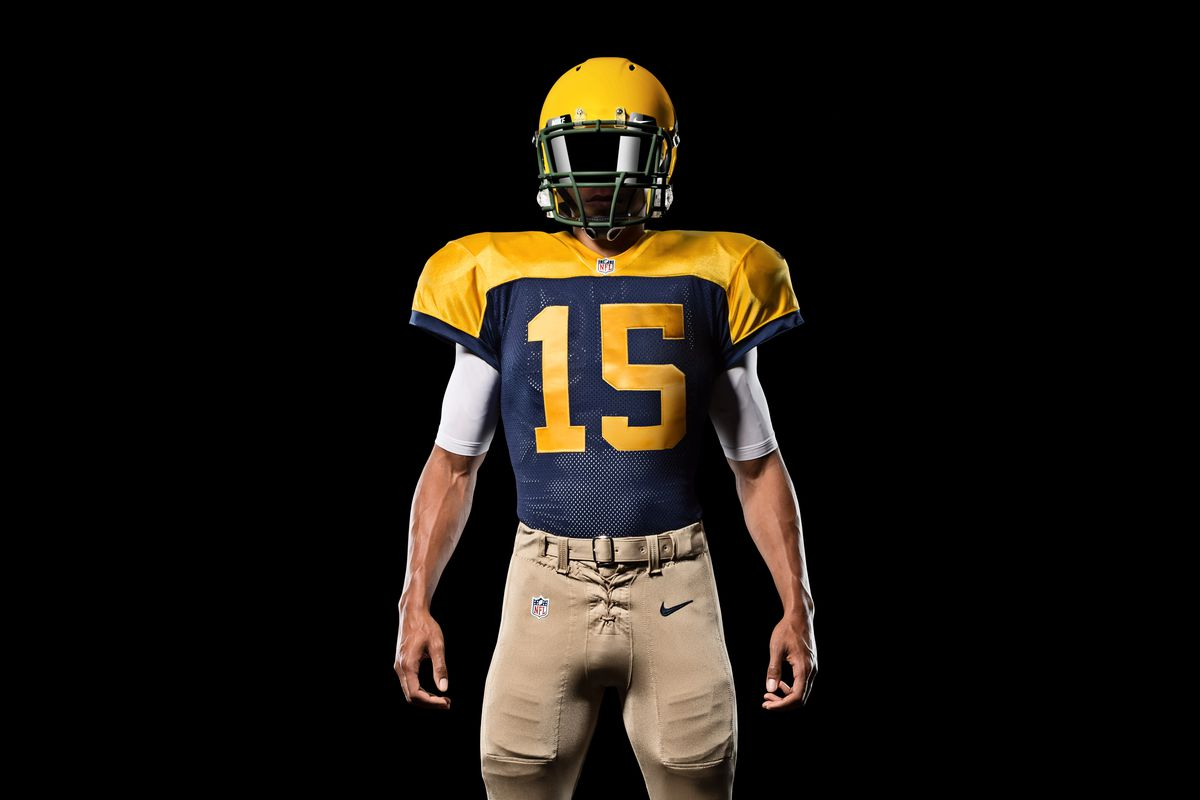 Packers Throwback Jersey  New  Classic  uniforms on display in week ... 7e573ccb6