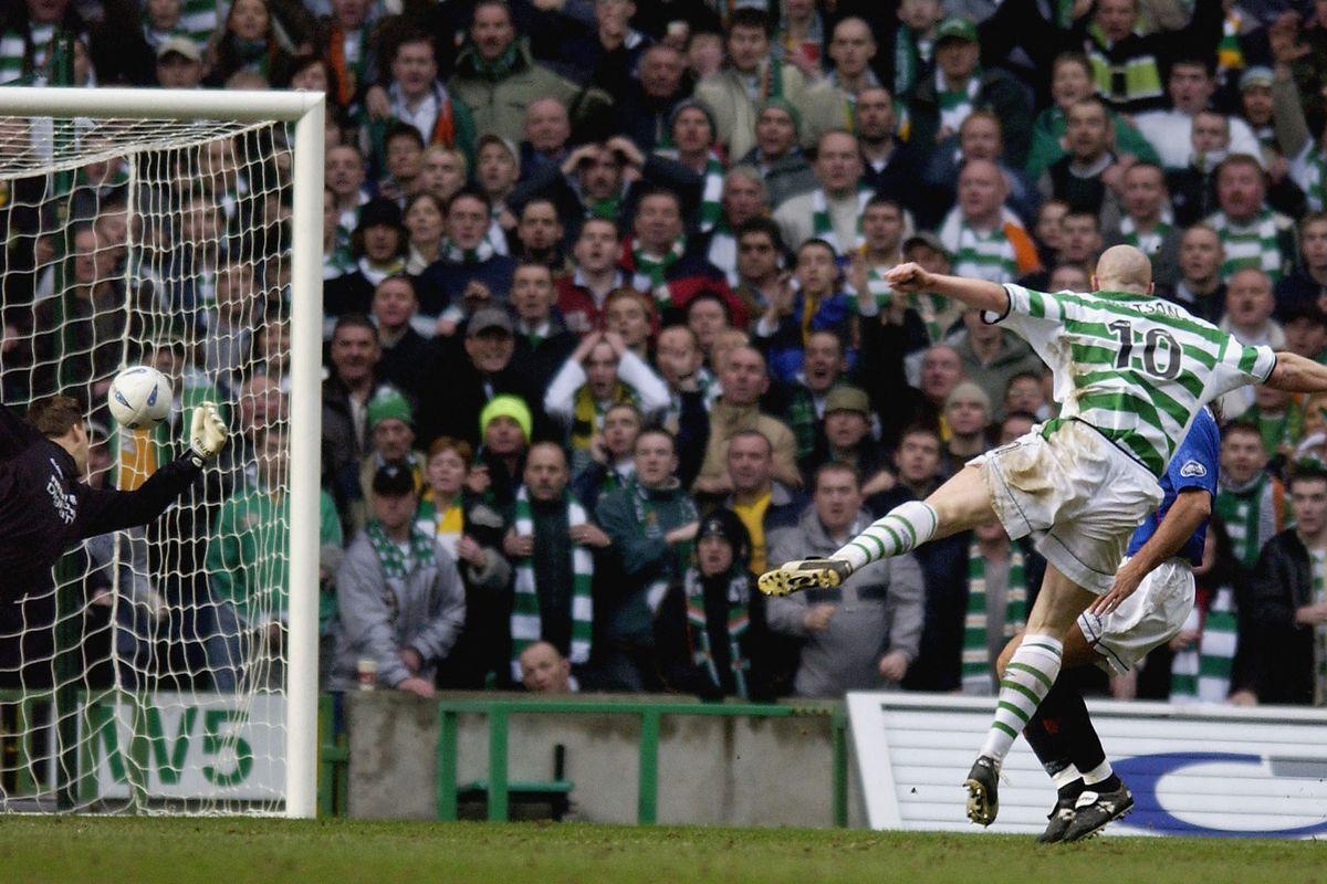 John Hartson scores for Celtic